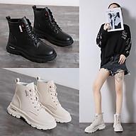 Boot Nữ Da Cao Cổ Cột Dây Phong Cách Thời Trang Hàn Quốc MBS352 - Mery shoes thumbnail
