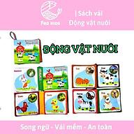 16 sách vải, sách vải song ngữ cho bé phát triển đa giác quan, tư duy và trí tuệ, FED KIDS - 12x12 cm, 8 trang thumbnail