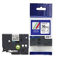 Nhãn in TZ2-261 tiêu chuẩn - Chữ đen trên nền trắng 36mm - Hàng nhập khẩu thumbnail