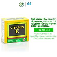 Viên uống TPCN BỔ SUNG VITAMIN E-Giúp chống Oxy hoá,hạn chế lão hoá da và làm đẹp da-hộp 100 viên thumbnail