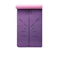 Thảm tập yoga định tuyến TPE 6mm 2 lớp - Tím hồng (Kèm túi và dây buộc) thumbnail