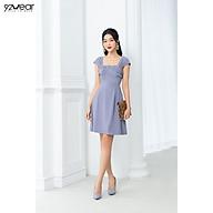 Đầm Váy Nữ Công Sở 92WEAR xòe xoắn nơ ngực DEW0873 thumbnail