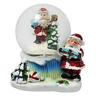 Quả Cầu Tuyết Trang Trí Giáng Sinh Hình Ông Già Noel - Mẫu Ngẫu Nhiên thumbnail