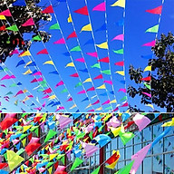 Cờ Dây Cờ Nheo Cờ Tam GiácTreo Tết Lễ Hội 1 Dây Dài 10m thumbnail