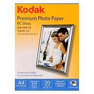 Giấy In Ảnh Cao Cấp Kodak RC 1 Mặt Siêu Bóng (High Glossy) A4 (21 x 29.7cm) 270gsm 20 Tờ - Hàng chính hãng thumbnail