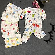 SÉT 5 Bộ cotton giấy thông hơi dài tay cho bé TRAI VÀ BÉ GÁI ( giao họa tiết ngẫu nhiên) thumbnail