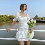 Đầm trắng nhún thân, rút dây thân tầng M.O.N Boutique thumbnail