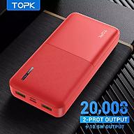[HÀNG CHÍNH HÃNG] Pin sạc dự phòng TOPK I2009 I2009Q 20000MAh PD QC3.0 Cho iPhone HUAWEi Samsung- Phân Phối Bởi TOPK Viêt Nam thumbnail