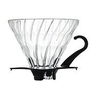 PHỄU LỌC CÀ PHÊ THUỶ TINH HARIO V60 DRIPPER VDG 02B GLASS SIZE 2-4 LY- ĐEN - Nhập khẩu chính hãng thumbnail