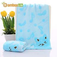 Khăn mặt sợi tre Khăn rửa mặt lau mặt Bamboo Life BBL056 hàng chính hãng - Xanh thumbnail