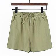 Quần shorts nữ, quần đùi đũi cạp chun, nhẹ, thoáng mát thumbnail