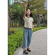 Quần Bò Ống Rộng Chun Bé Gái thumbnail