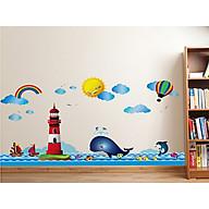 Decal dán tường trang trí lớp mầm non, chân tường, phòng học cho bé- Chân tường ngọn hải đăng- mã sp DXL7252 thumbnail