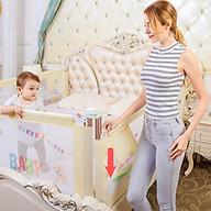Thanh chắn giường cao cấp mẫu mới nhất Babyqiner trượt lên xuống nút bấm hiện đại giá 1 thanh thumbnail