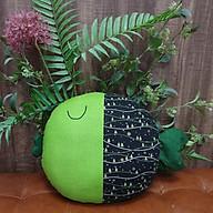 Gối ôm, gối tựa lưng trang trí hình con cá dẽ thương màu xanh lá cây cho bé và mẹ thumbnail