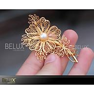 Quà tặng sếp nữ Hoa cài áo bằng bạc mạ vàng 24k thumbnail