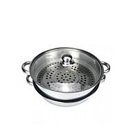 Xửng hấp 2 tầng inox 304 dùng cho bếp ga, bếp từ (33cm) thumbnail