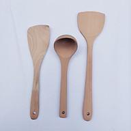 Combo 3 thìa dụng cụ nhà bếp gỗ tự nhiên thân thiện với môi trường thumbnail
