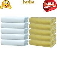 Combo 10 Khăn gội bestke 100% cotton mềm mại và thấm hút white color, vàng, Cotton towels, towels manufacturer thumbnail