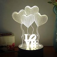 Đèn ngủ 3D hình trái tim LOVE - tiết kiệm điện thumbnail