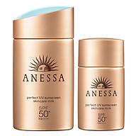 Bộ đôi sữa chống nắng bảo vệ hoàn hảo Anessa Perfect UV Sunscreen Skincare Milk 60ml & 20ml thumbnail