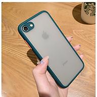 Ốp lưng trong nhám viền Shield Matte Color bảo vệ camera cho iPhone 7 8 thumbnail