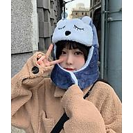 Mũ Len Nữ Hàn Quốc Xinh Xắn, Kèm Khẩu Trang, Chất liệu Cao Cấp Không Xù Lông thumbnail