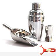 Combo bình lắc, dụng cụ xúc đá và ly đong định lượng inox cao cấp tặng Dao bào nhựa đỏ BLX01 Dụng cụ pha chế thumbnail