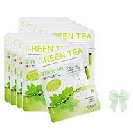 10 gói đắp mặt nạ trà xanh Green Tea Dabo hàn quốc (22ml.gói) và nơ thumbnail