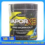 Pre-Workout Vapor X5 của MuscleTech hương Blue Razz Freeze hộp 30 lần dùng hỗ trợ Tăng Sức Bền, Sức Mạnh thumbnail