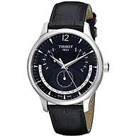 Tissot Men s T063.637.16.057.00 Black Dial Watch thumbnail