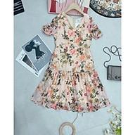 Đầm voan hoa,váy hoa dáng xoè (có ảnh và video thật) thumbnail