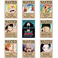 Bộ 9 tấm poster anime dán tường Wanted Băng Mũ Rơm - One Piece thumbnail