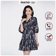 Đầm công sở chất liệu Thô chun dáng chữ A tay lỡ FDC32917- PANTIO thumbnail
