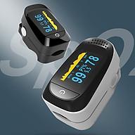 Máy đo huyết áp kẹt ngón tay kỹ thuật số Màn hình OLED màu kép đo nồng độ Oxy, SpO2 trong máu SpO2 Pulse Oximeter A2 thumbnail
