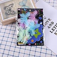 Bộ 6 miếng dán dạ quang hình con bướm thumbnail