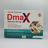 Viên Uống Bổ Tổng Hợp DMAX- Với Thành Phần Albumin- Giúp Ăn Ngon, Hỗ Trợ Nâng Cao Sức Đề Kháng ( Hộp 60 viên) thumbnail