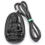 Dây Chuyền Mặt Phật A Di Đà - Thạch Anh Đen 6cm DETES7 - Tuổi Tuất, Hợi thumbnail