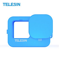 TELESIN Action Camera Protective Case Cover Soft Silicone with Lens Cap Lanyard Protection Accessories Replacement for thumbnail