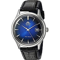 Orient Men s Stainless Steel Automatic Watch with Leather Strap, Black, 22 (Model FAC08004D0) thumbnail