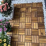Combo 5 Tấm Sàn Gỗ Keo Tự Nhiên Cao Cấp 12 Nan R30 Cm dùng để lót lối đi, ban công trên sân thượng thumbnail