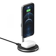 BỘ SẠC KHÔNG DÂY IPHONE 12 SERIES & AIRPODS HYPERJUICE MAGNETIC 2 IN 1 WIRELESS CHARGING STAND HJ461 - HÀNG CHÍNH HÃNG thumbnail