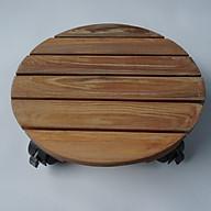 Combo 2 đế lót chậu cây, chậu hoa có tạo vân gỗ Ash (màu cập nhật 2020), có bánh xe đường kính 30cm, thích hợp trang trí trong nhà, ngoài trời các khu chung cư, khu nghỉ dưỡng, tiện lợi di chuyển các chậu cây thumbnail