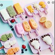 Khuôn làm kem silicon gồm nhiều mẫu ( giao ngẫu nhiên ) mẫu mới thumbnail