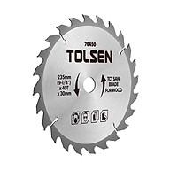 Đĩa Cắt Gỗ Tolsen 76450 - Bạc (235mm x 40 T) thumbnail