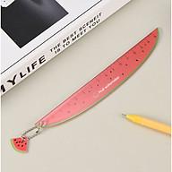 Thước kẻ học sinh hình Trái Cây siêu độc đáo - Chiều dài 15cm - Giao màu ngẫu nhiên thumbnail