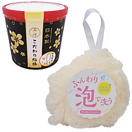 Combo hộp 180 bông ngoáy tai cao cấp cho người lớn và bông tắm tạo bọt nội địa Nhật Bản thumbnail