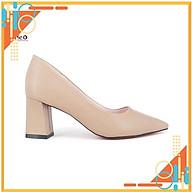 Giày công sở nữ- giày da cao cấp HT.NEO da bò thật 100% kết hợp gót vuông 7cm bọc da cực sang, cực đẹp (CS140) thumbnail