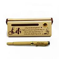 Bộ bút gỗ cao cấp tặng cha mẹ_mẫu 02 (Kèm hộp đựng sang trọng) thumbnail