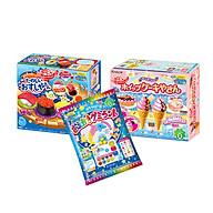 Combo 3 hộp kẹo sáng tạo popin cookin kem socola + sushi + thế giới sắc màu thumbnail
